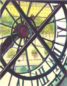 Musee D'Orsay Clock, Paris